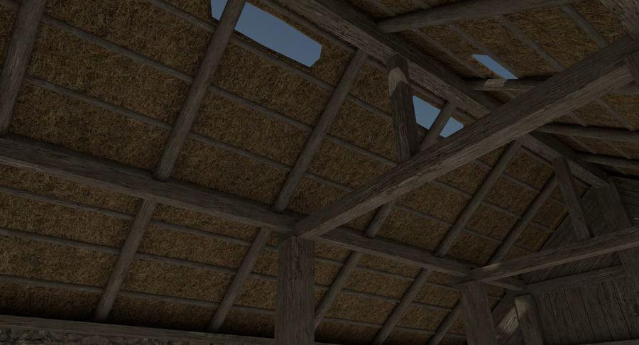 Dom Wikingów jeden z wnętrzem teksturowanym royalty-free 3d model - Preview no. 9