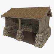 Viking Stall strukturiert 3d model