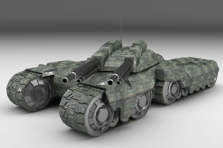 Heavy Tank royalty-free 3d model - Preview no. 1