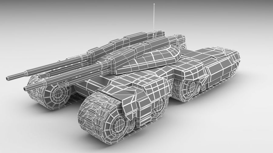 Heavy Tank royalty-free 3d model - Preview no. 2