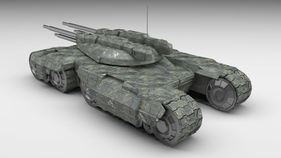 Heavy Tank royalty-free 3d model - Preview no. 3