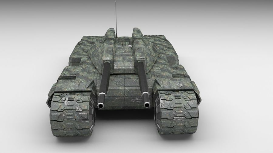 Heavy Tank royalty-free 3d model - Preview no. 4