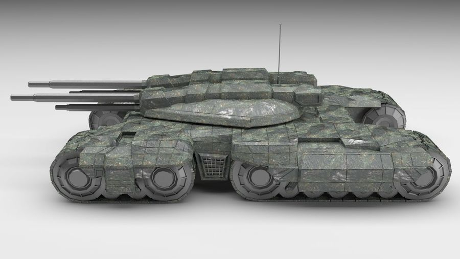 Heavy Tank royalty-free 3d model - Preview no. 5
