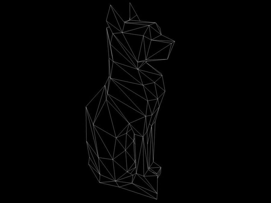 Statuetka kotów royalty-free 3d model - Preview no. 9