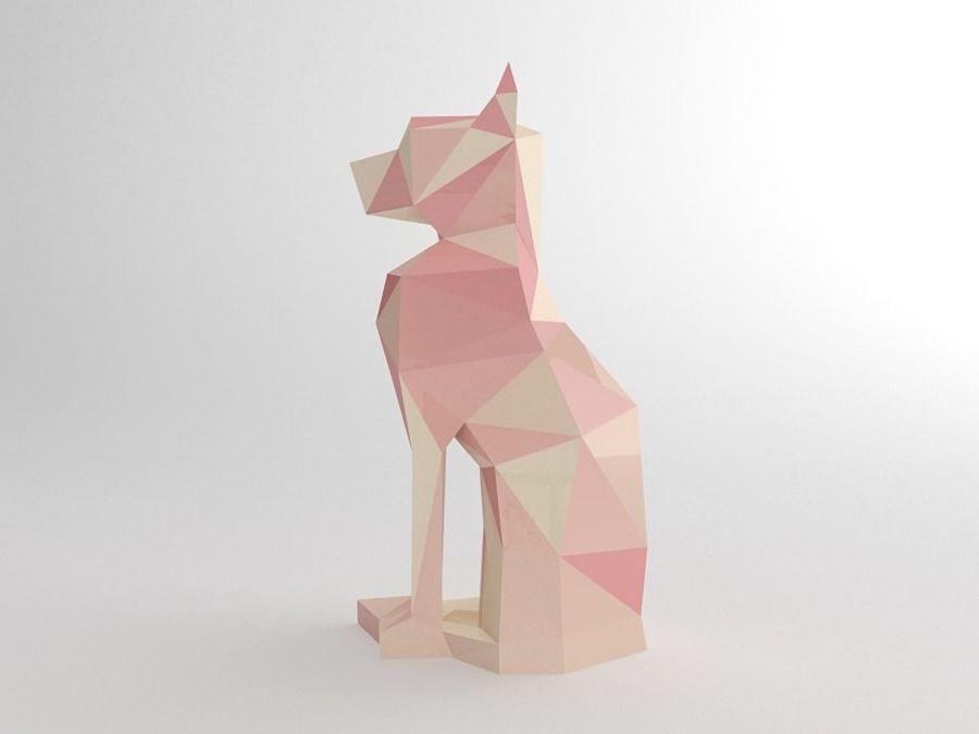 Statuetka kotów royalty-free 3d model - Preview no. 7