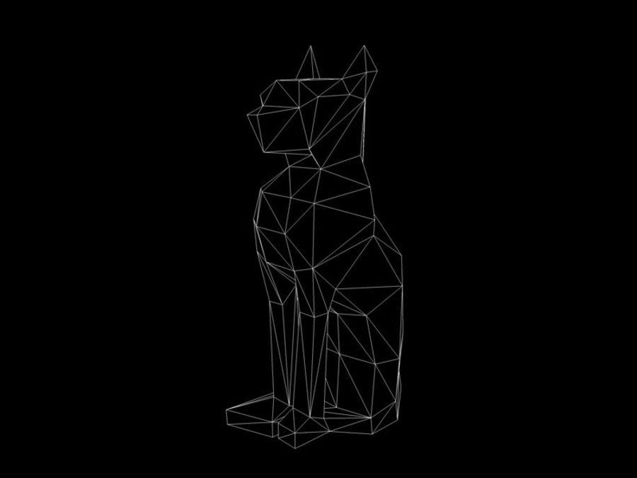 Statuetka kotów royalty-free 3d model - Preview no. 8