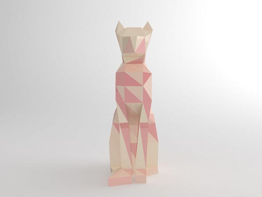 Statuetka kotów royalty-free 3d model - Preview no. 5