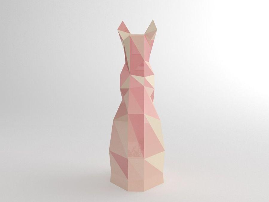 Statuetka kotów royalty-free 3d model - Preview no. 6