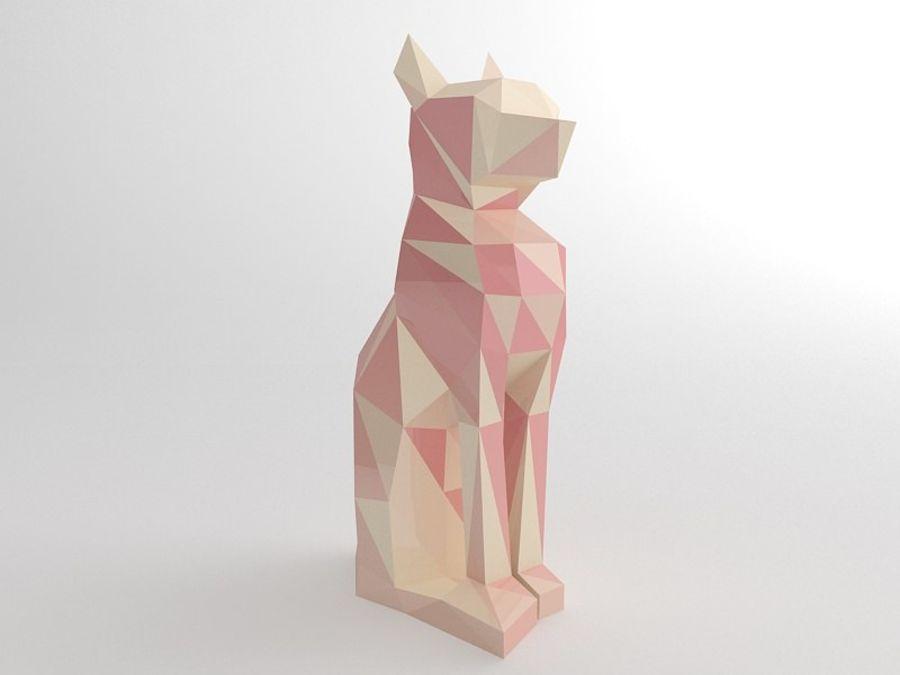 Statuetka kotów royalty-free 3d model - Preview no. 4