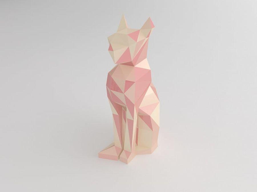 Statuetka kotów royalty-free 3d model - Preview no. 3