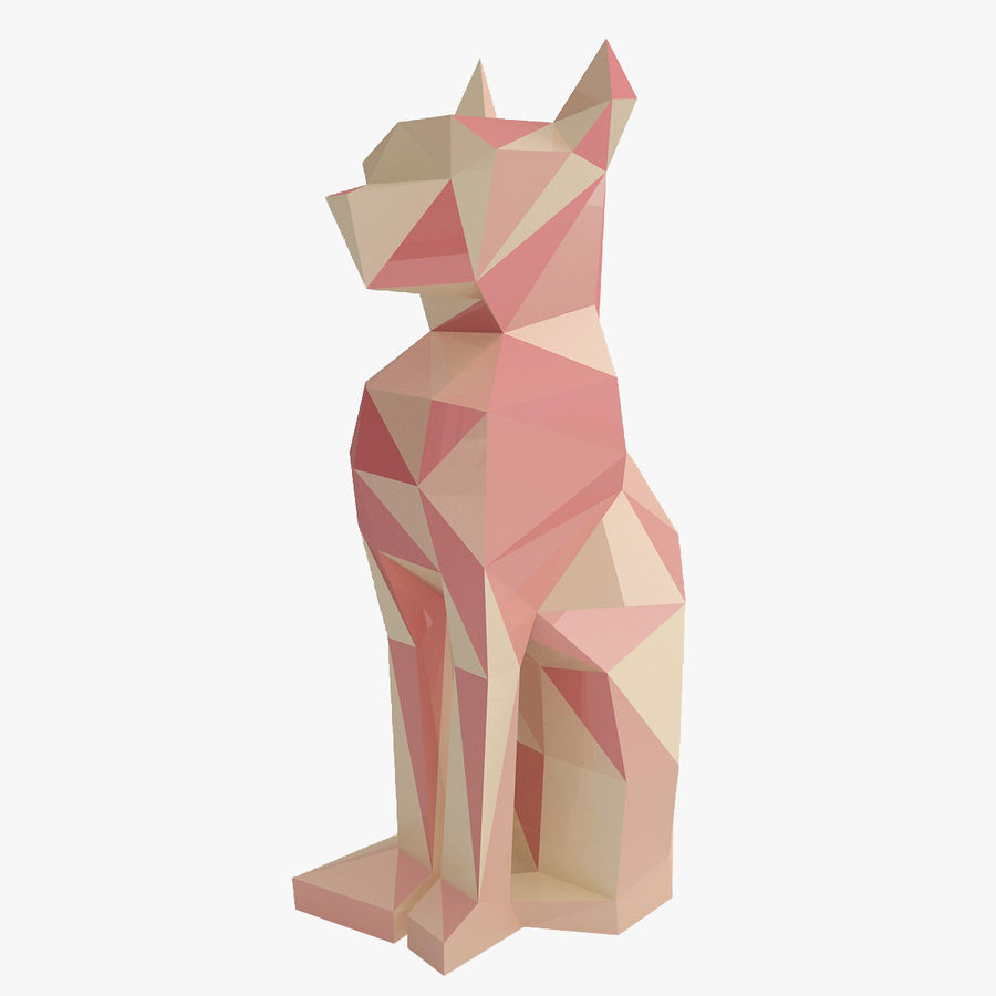 Statuetka kotów royalty-free 3d model - Preview no. 1