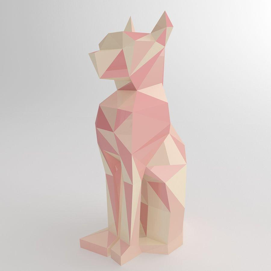 Statuetka kotów royalty-free 3d model - Preview no. 2