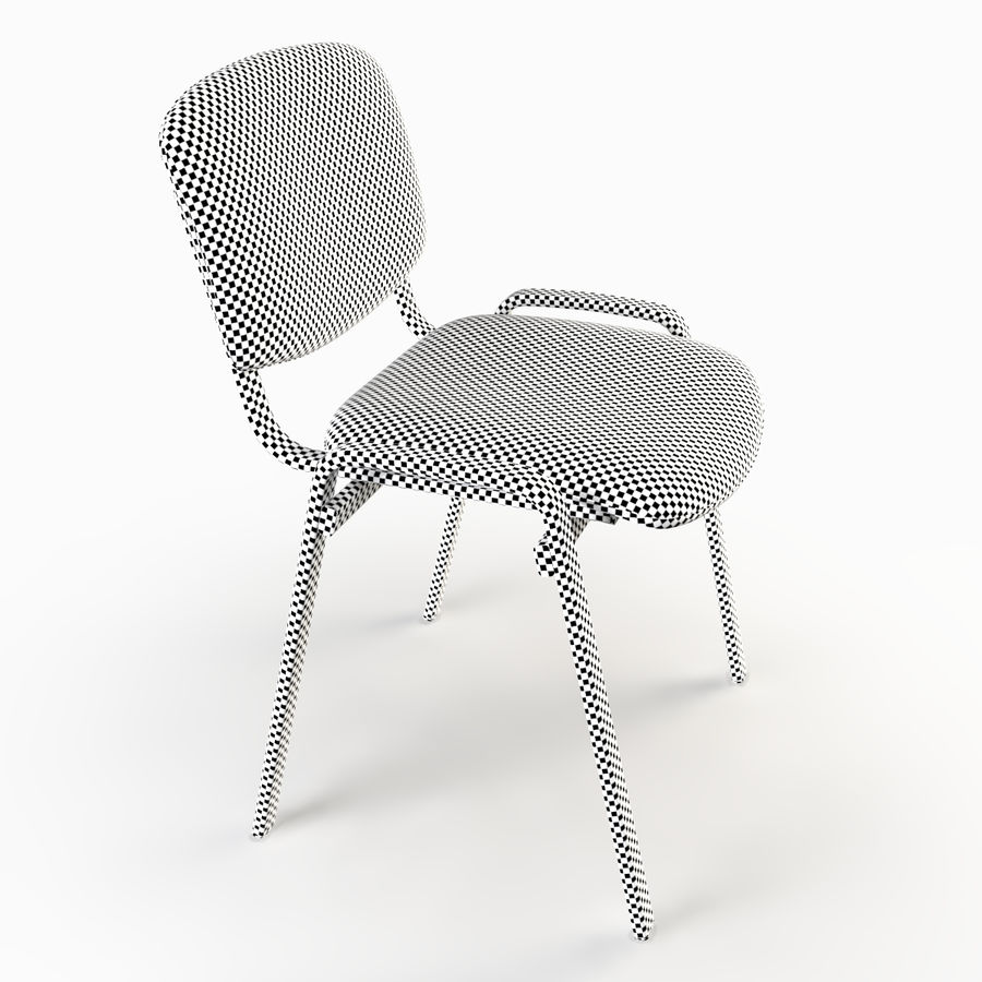 Chaise de bureau royalty-free 3d model - Preview no. 6