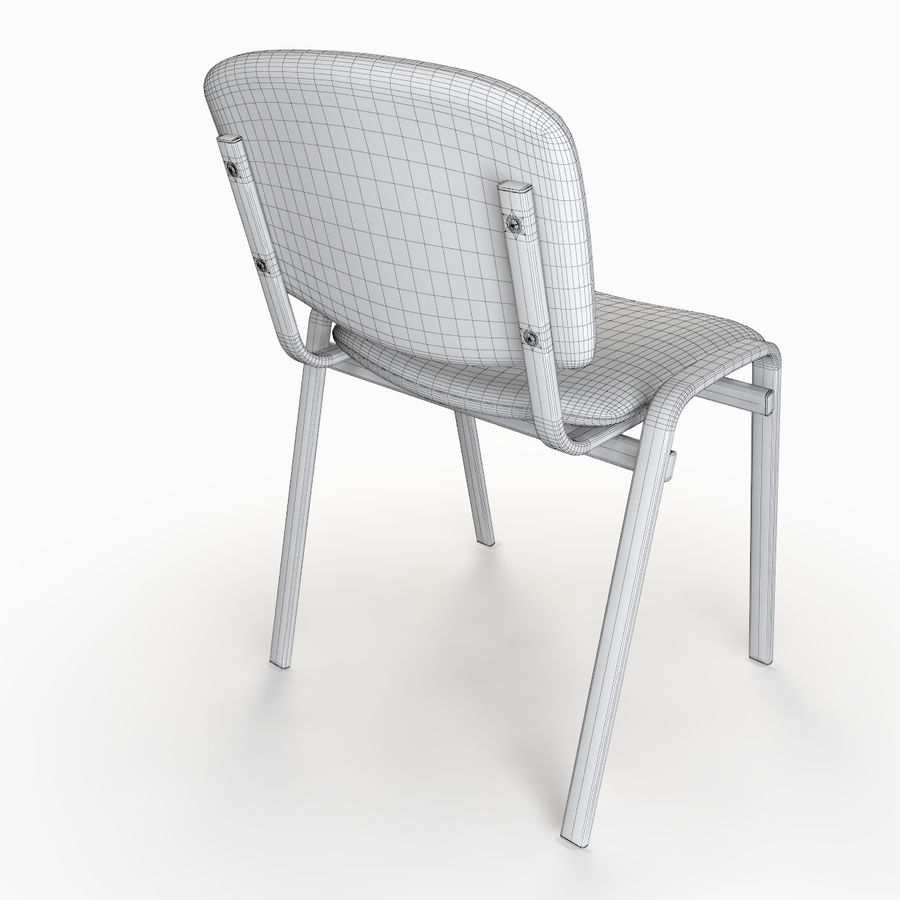 Chaise de bureau royalty-free 3d model - Preview no. 9