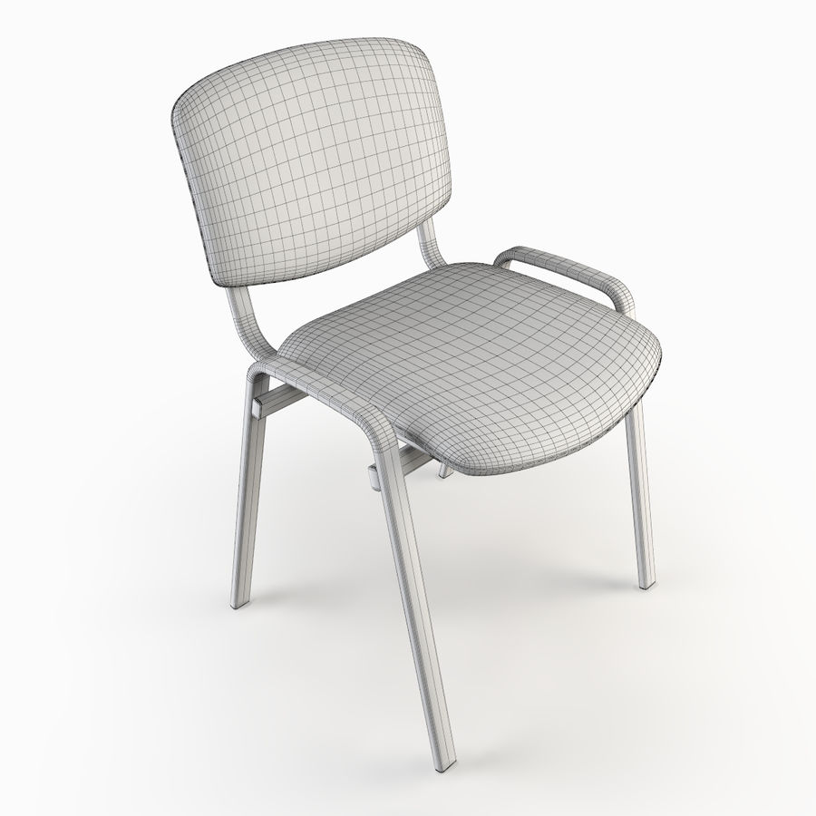 Chaise de bureau royalty-free 3d model - Preview no. 8