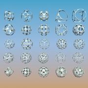 Пакет геометрических фигур 21 3d model