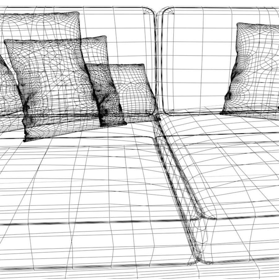 Divano sexy / LoveSeat royalty-free 3d model - Preview no. 5
