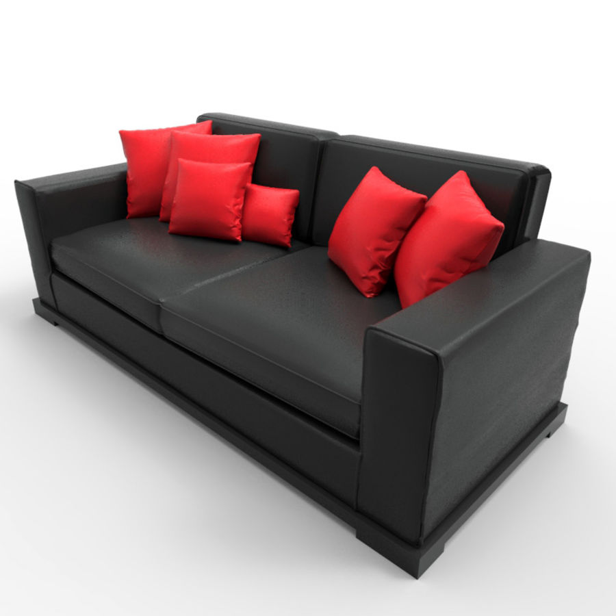 Divano sexy / LoveSeat royalty-free 3d model - Preview no. 1