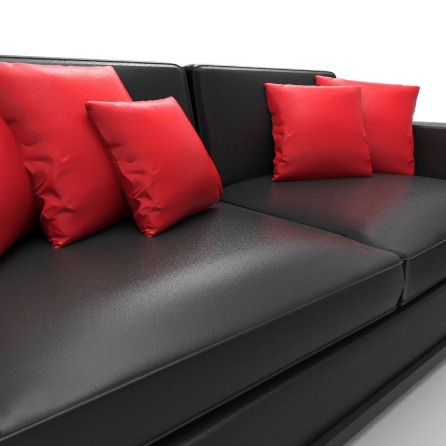 Divano sexy / LoveSeat royalty-free 3d model - Preview no. 2