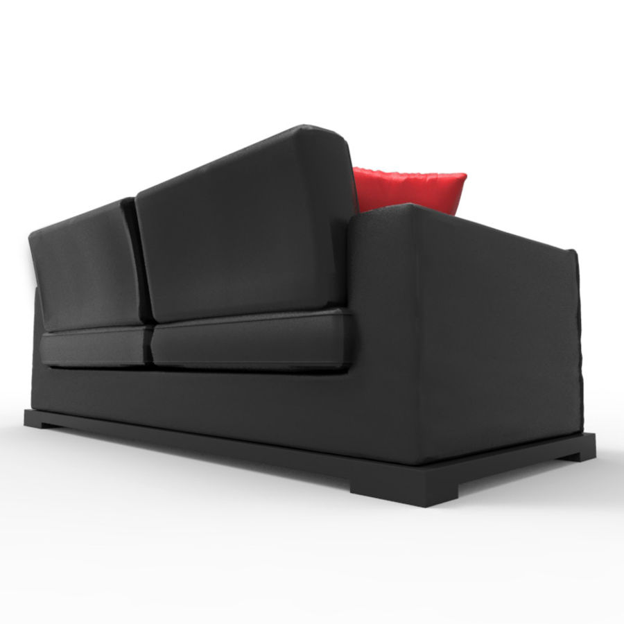 Divano sexy / LoveSeat royalty-free 3d model - Preview no. 3