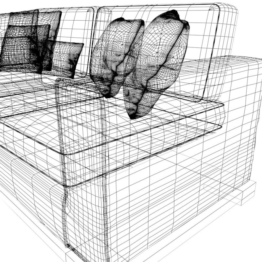 Divano sexy / LoveSeat royalty-free 3d model - Preview no. 4