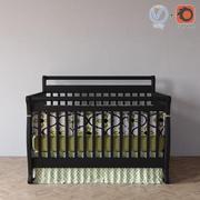 범퍼가있는 현대 유아용 침대 3d model