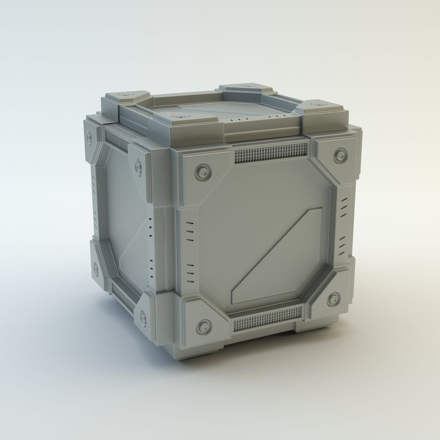 Sci-fi cube royalty-free 3d model - Preview no. 1