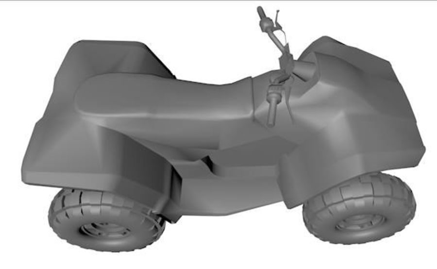 Army Quad Bike royalty-free 3d model - Preview no. 3