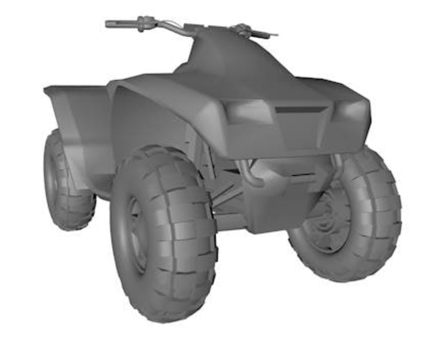 Army Quad Bike royalty-free 3d model - Preview no. 2