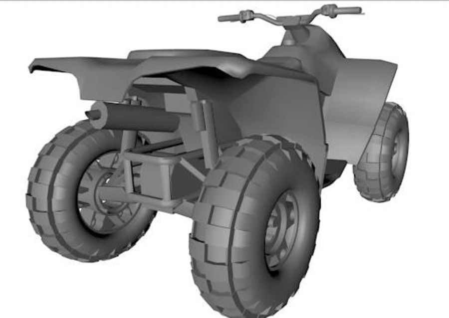 Army Quad Bike royalty-free 3d model - Preview no. 4