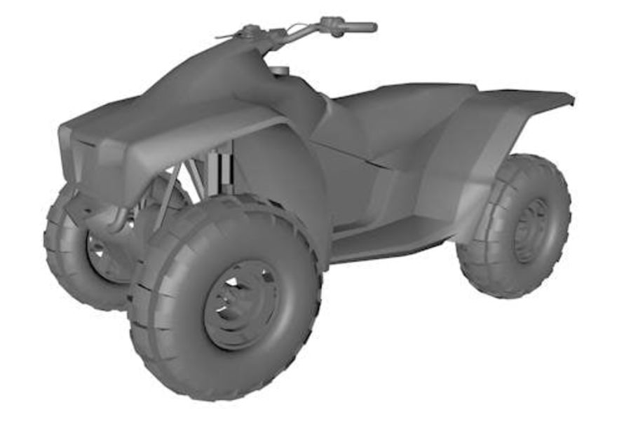 Army Quad Bike royalty-free 3d model - Preview no. 1