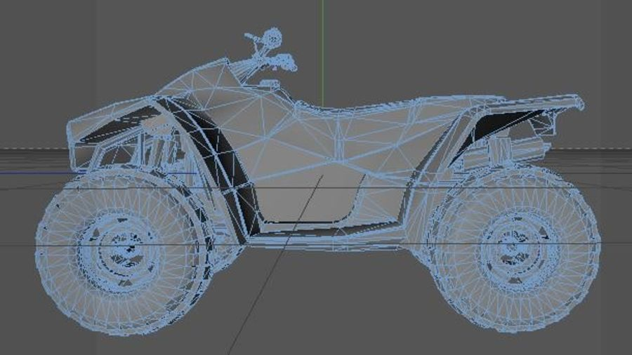 Army Quad Bike royalty-free 3d model - Preview no. 6