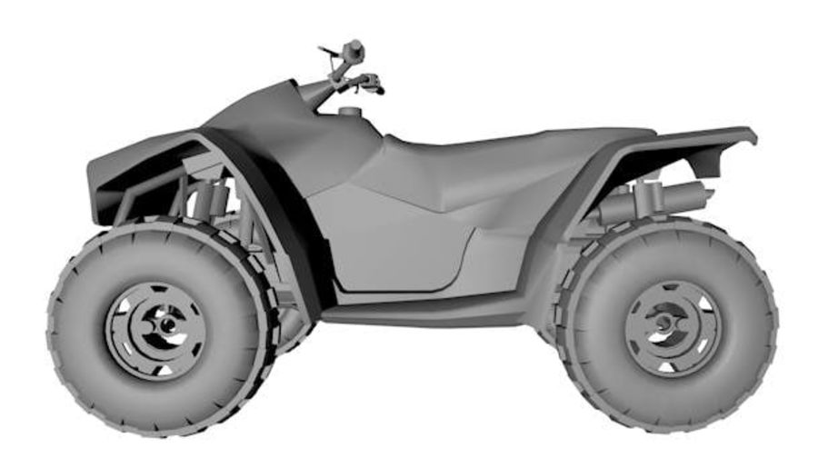 Army Quad Bike royalty-free 3d model - Preview no. 5