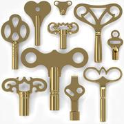 10 Clock Keys 3d model