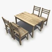 Tisch Stuhl 3d model