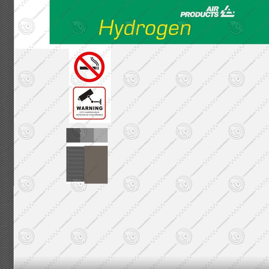 Stacja benzynowa wodoru royalty-free 3d model - Preview no. 16