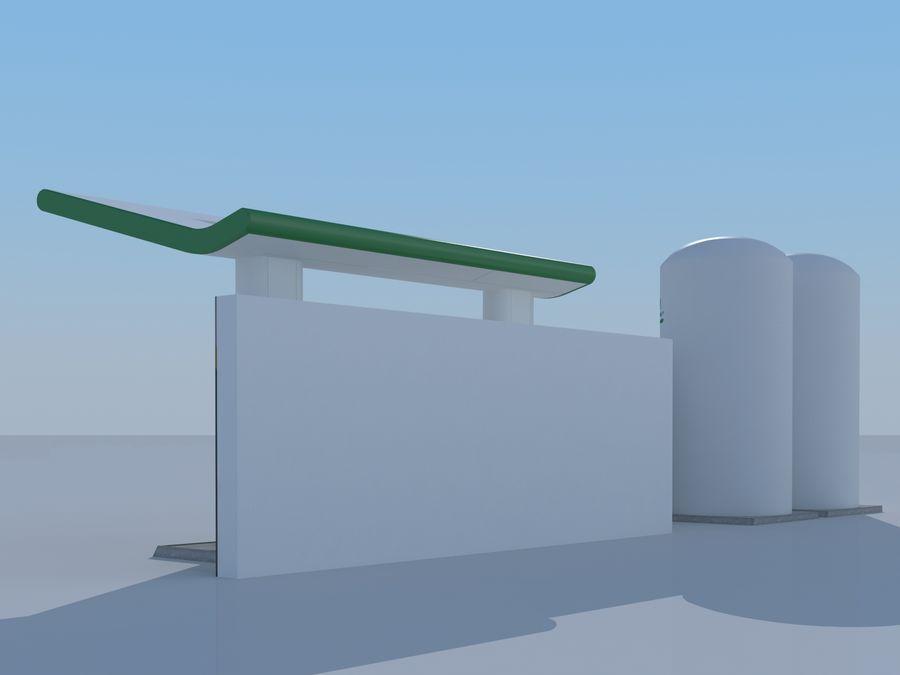 Stacja benzynowa wodoru royalty-free 3d model - Preview no. 3