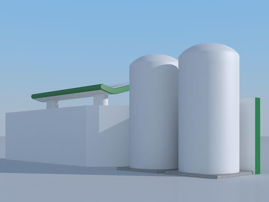 Stacja benzynowa wodoru royalty-free 3d model - Preview no. 4