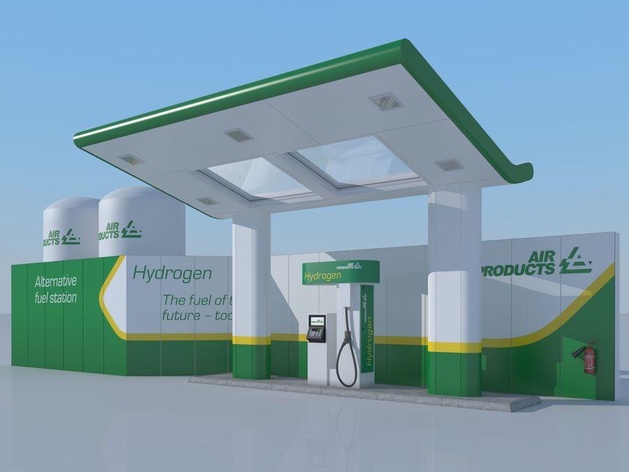 Stacja benzynowa wodoru royalty-free 3d model - Preview no. 1