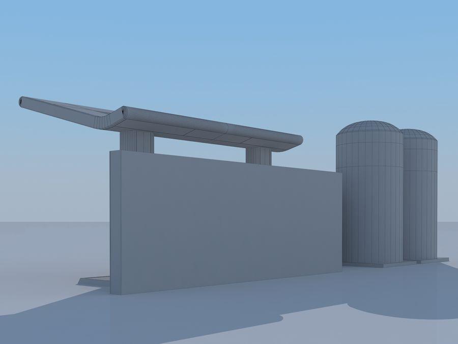Stacja benzynowa wodoru royalty-free 3d model - Preview no. 11