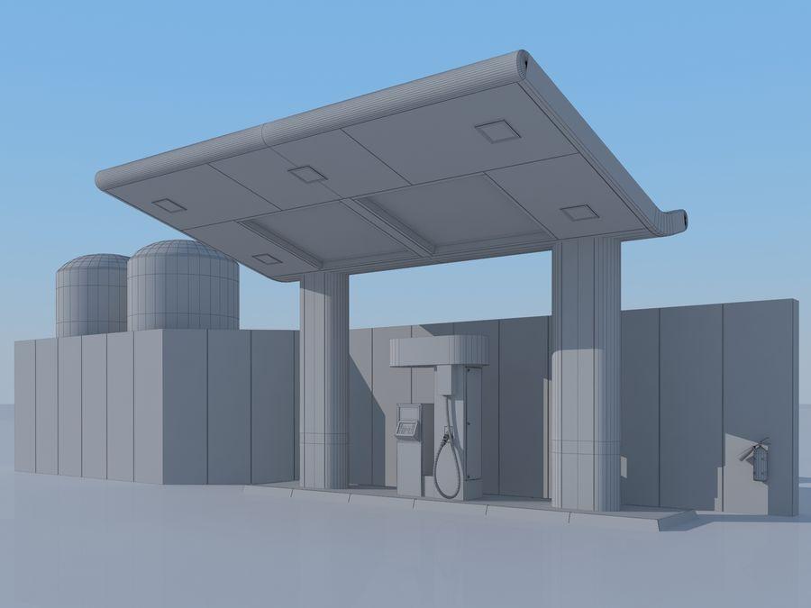 Stacja benzynowa wodoru royalty-free 3d model - Preview no. 8