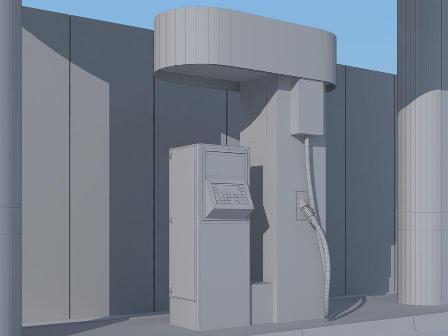 Stacja benzynowa wodoru royalty-free 3d model - Preview no. 13