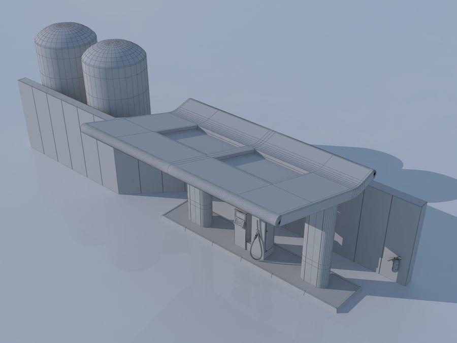 Stacja benzynowa wodoru royalty-free 3d model - Preview no. 12