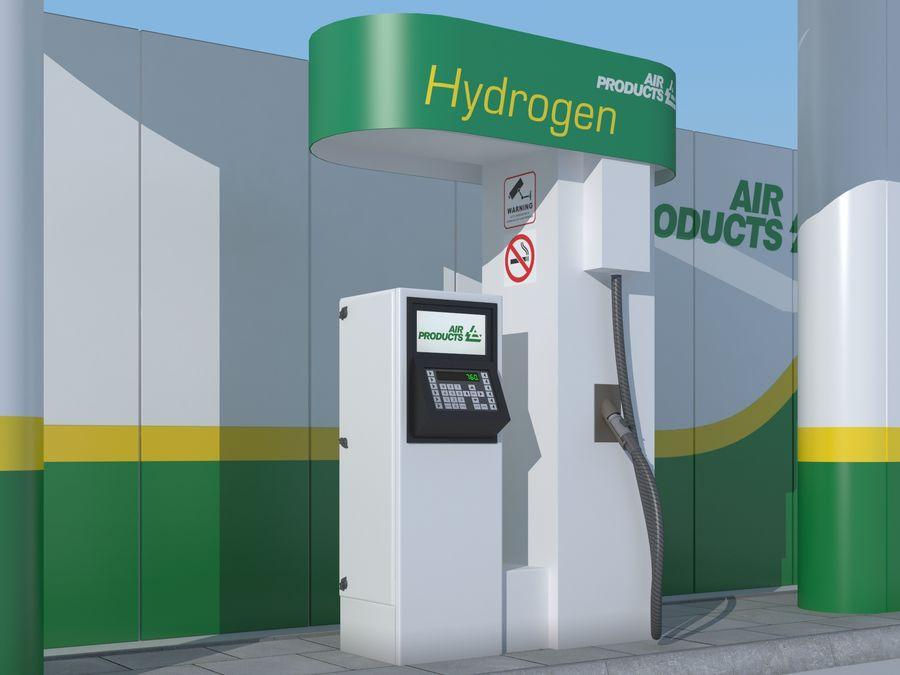 Stacja benzynowa wodoru royalty-free 3d model - Preview no. 6