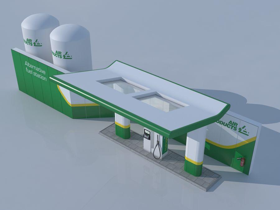 Stacja benzynowa wodoru royalty-free 3d model - Preview no. 5