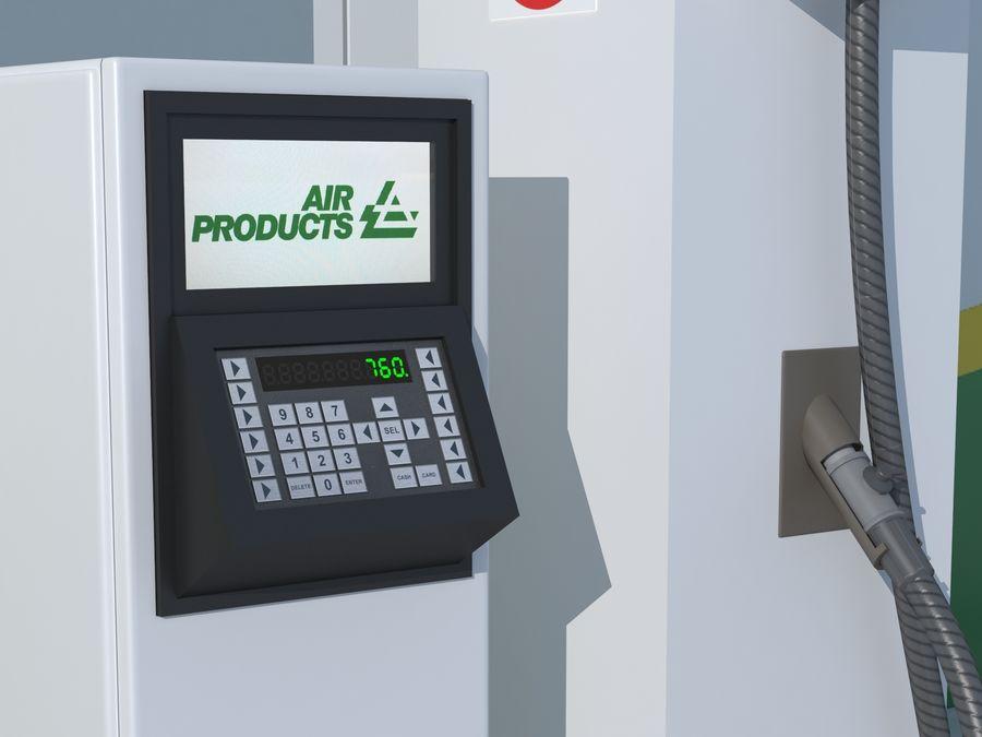 Stacja benzynowa wodoru royalty-free 3d model - Preview no. 7