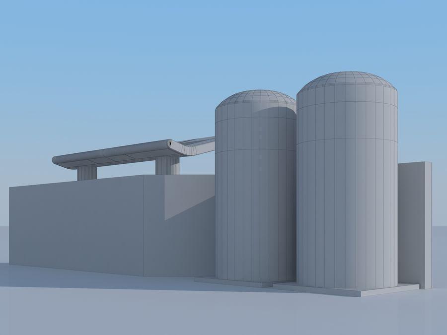 Stacja benzynowa wodoru royalty-free 3d model - Preview no. 10