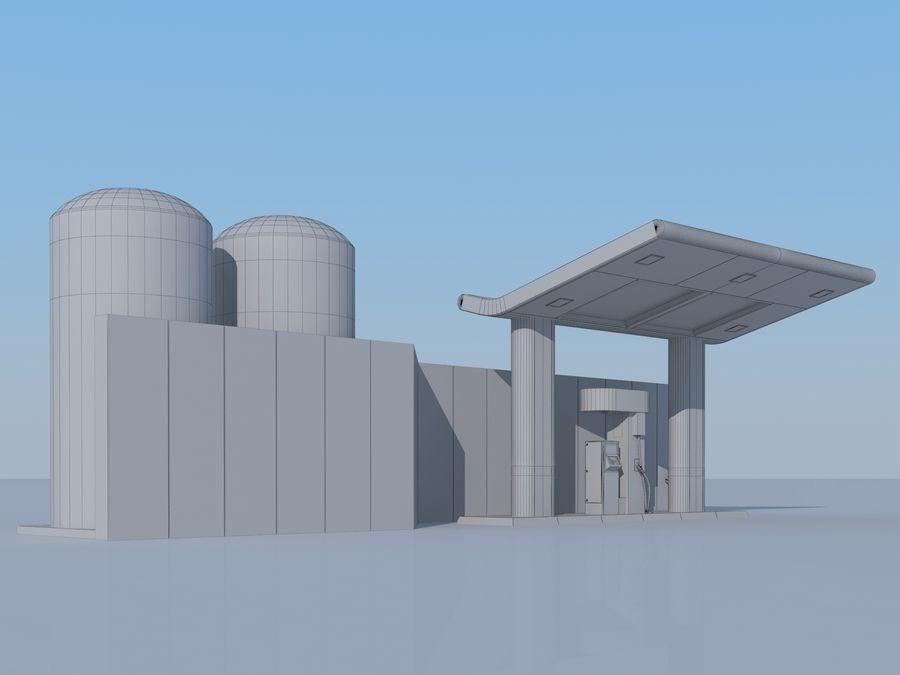 Stacja benzynowa wodoru royalty-free 3d model - Preview no. 9