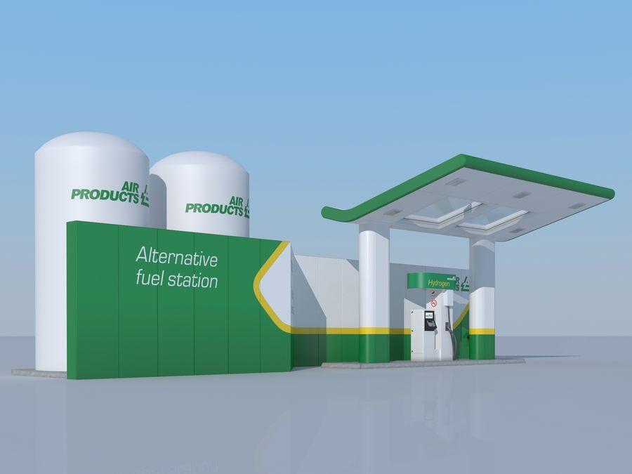 Stacja benzynowa wodoru royalty-free 3d model - Preview no. 2
