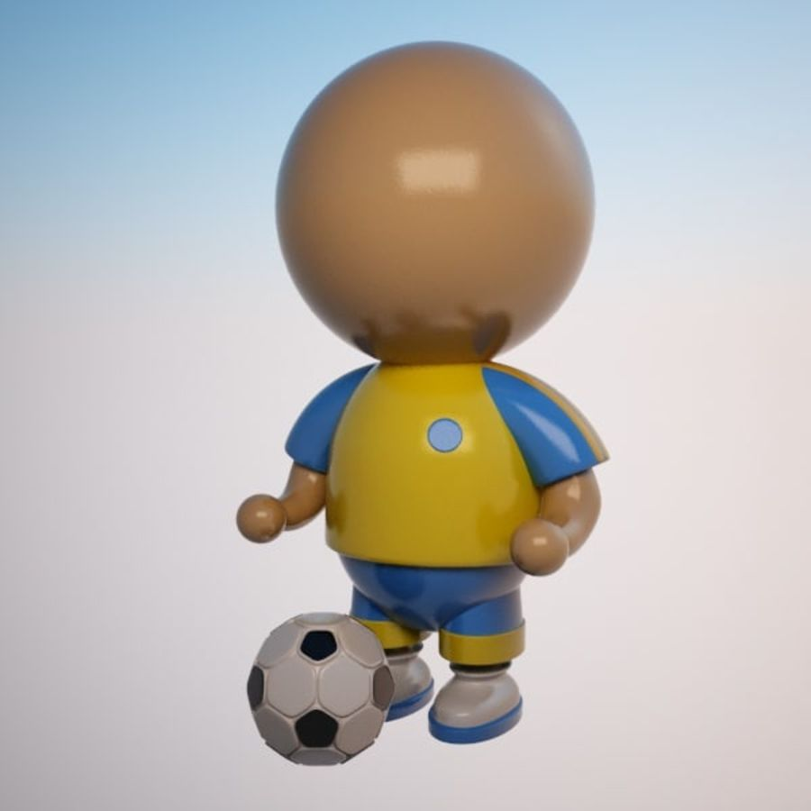 Cartoon Sportsman Character royalty-free 3d model - Preview no. 1